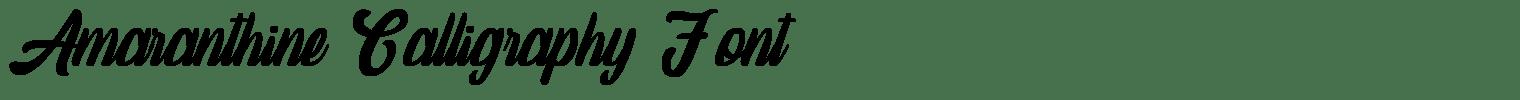 Amaranthine Calligraphy Font