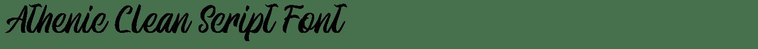 Athenic Clean Script Font