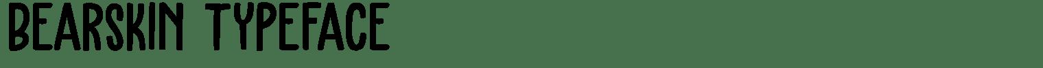 Bearskin Typeface