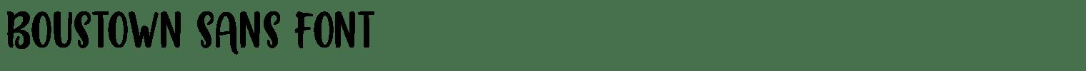 Boustown Sans Font