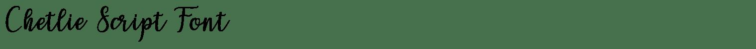 Chetlie Script Font