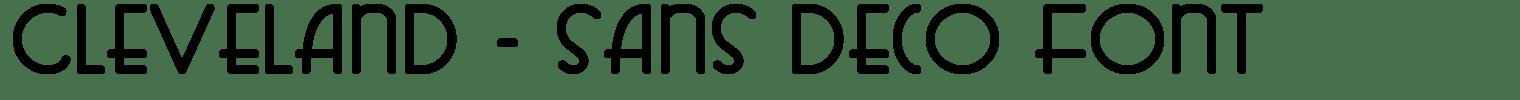 Cleveland – Sans Deco Font