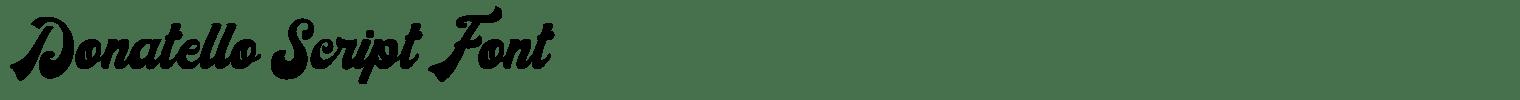 Donatello Script Font