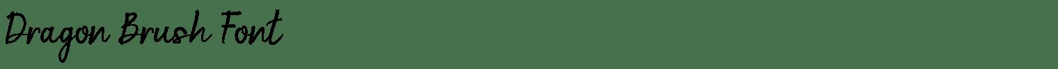 Dragon Brush Font