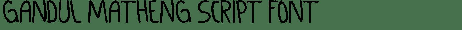 Gandul Matheng Script Font