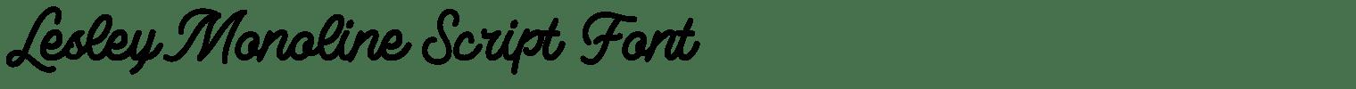 Lesley Monoline Script Font