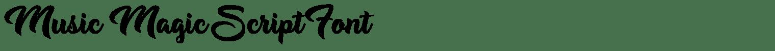 Music Magic Script Font