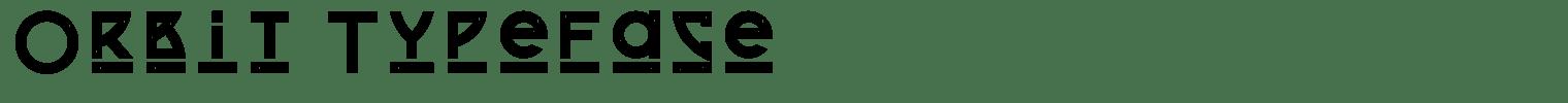 Orbit Typeface