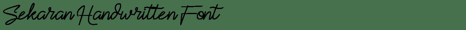Sekaran Handwritten Font