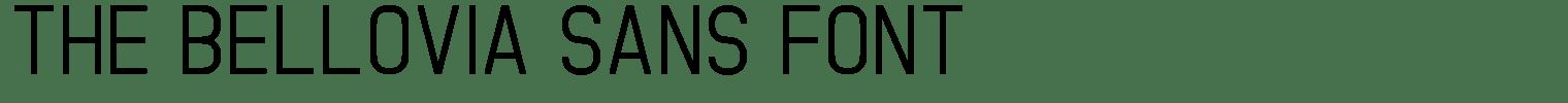 The Bellovia Sans Font