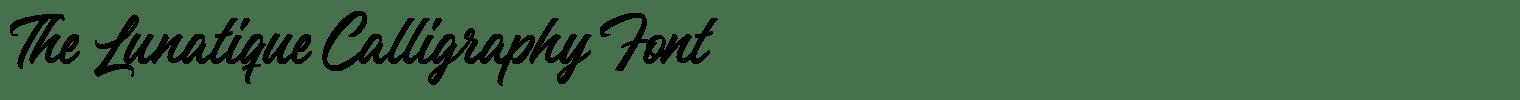 The Lunatique Calligraphy Font