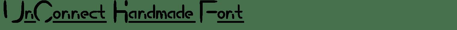 UnConnect Handmade Font