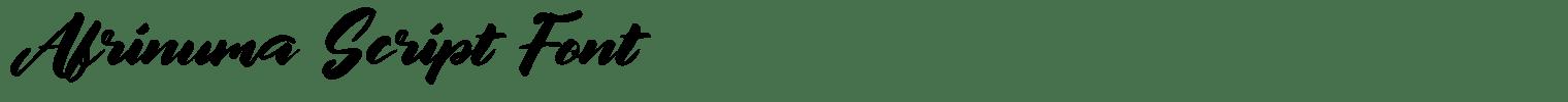 Afrinuma Script Font