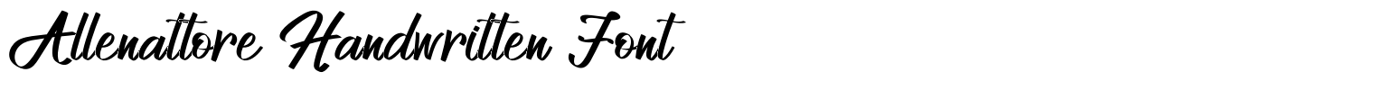 Allenattore Handwritten Font