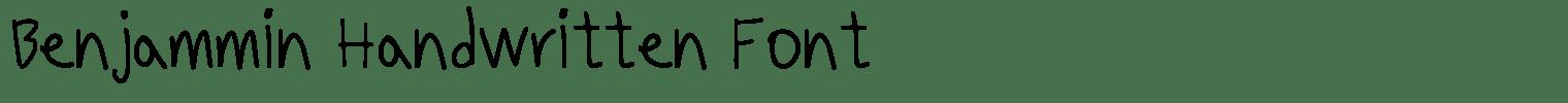 Benjammin Handwritten Font