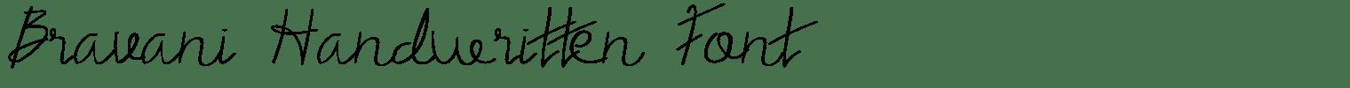 Bravani Handwritten Font