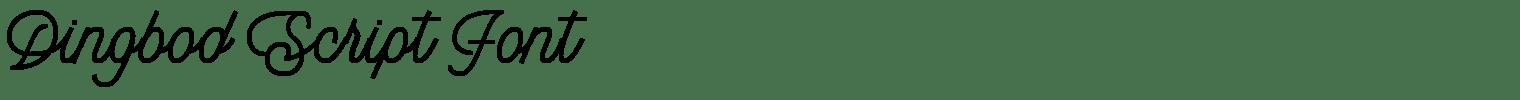 Dingbod Script Font