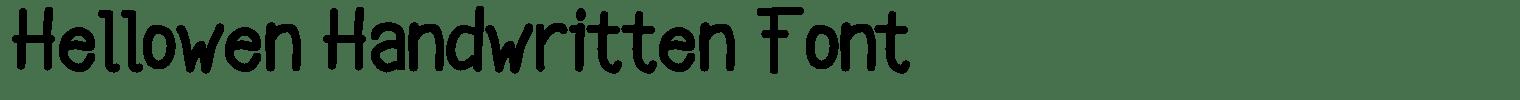 Hellowen Handwritten Font
