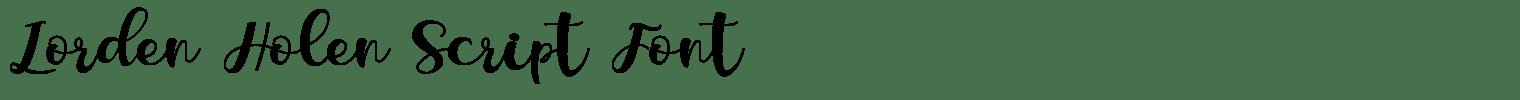 Lorden Holen Script Font