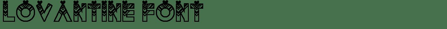 Lovantine Font