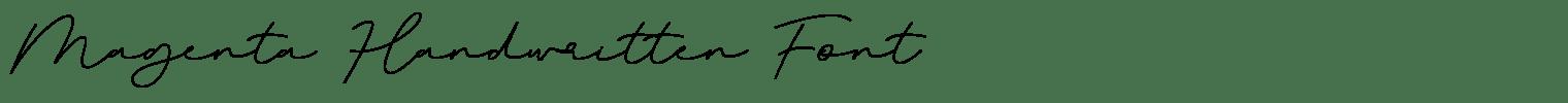 Magenta Handwritten Font
