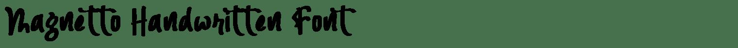 Magnetto Handwritten Font