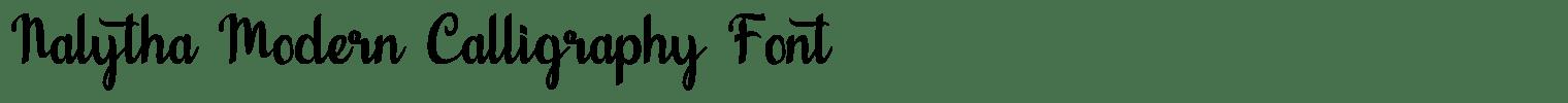 Nalytha Modern Calligraphy Font