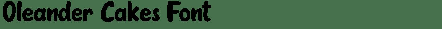 Oleander Cakes Font