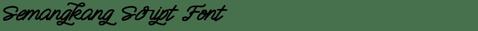 Semangkang Script Font