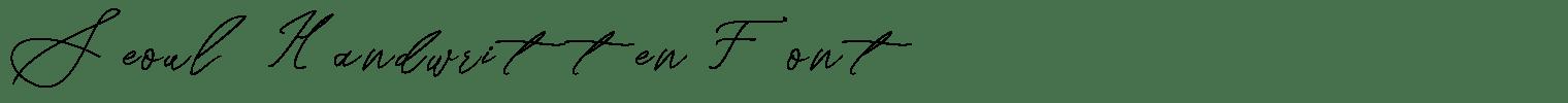 Seoul Handwritten Font