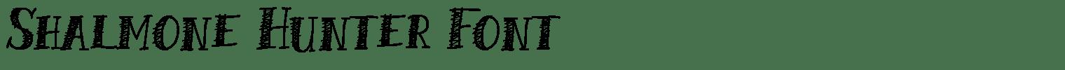 Shalmone Hunter Font