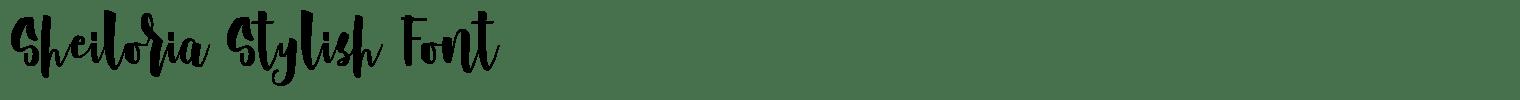 Sheiloria Stylish Font