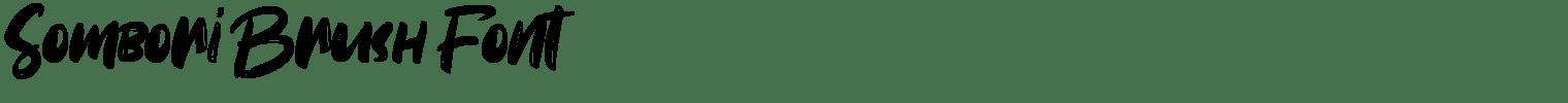 Sombori Brush Font