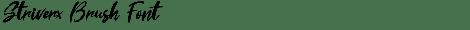 Striverx Brush Font