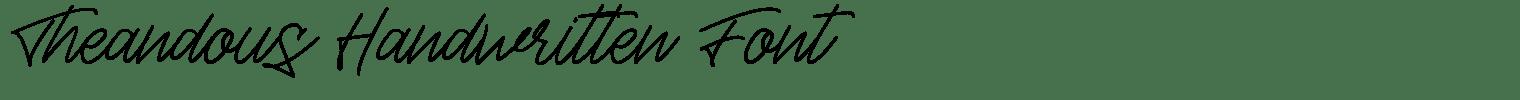 Theandous Handwritten Font