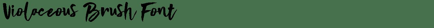 Violaceous Brush Font