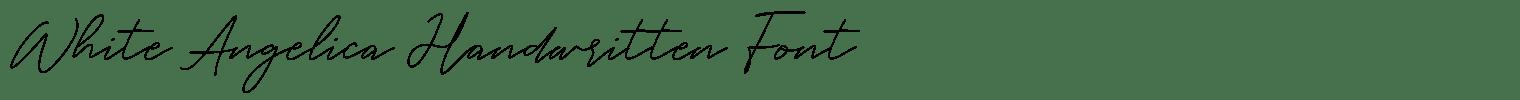 White Angelica Handwritten Font
