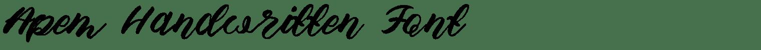 Apem Handwritten Font
