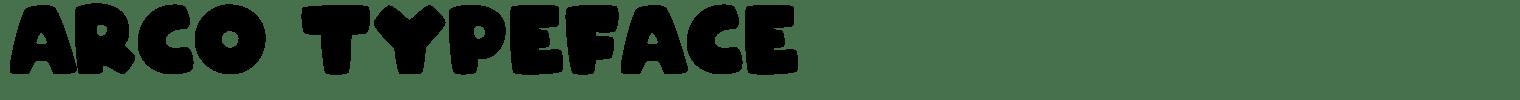 Arco Typeface
