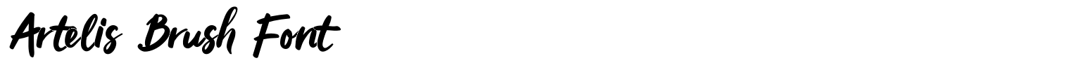 Artelis Brush Font