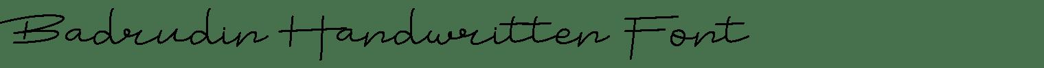 Badrudin Handwritten Font
