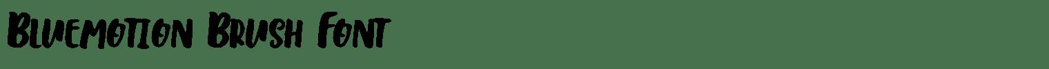 Bluemotion Brush Font