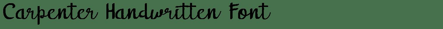 Carpenter Handwritten Font