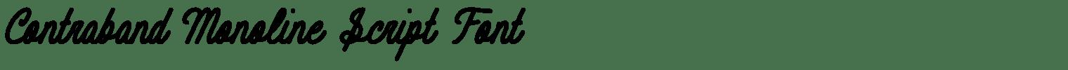 Contraband Monoline Script Font