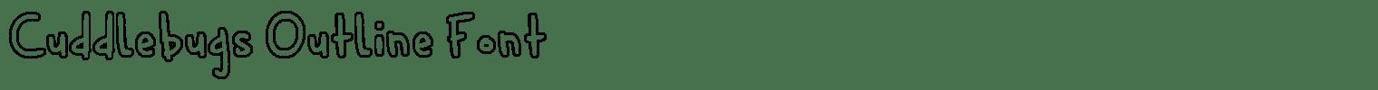 Cuddlebugs Outline Font