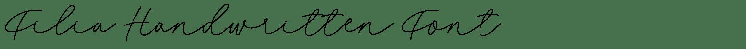 Filia Handwritten Font
