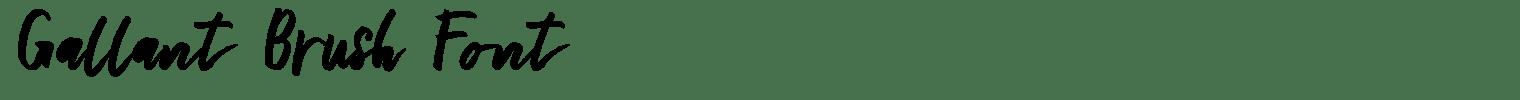 Gallant Brush Font