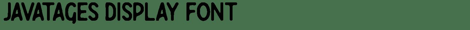 Javatages Display Font