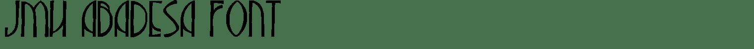 JMH Abadesa Font
