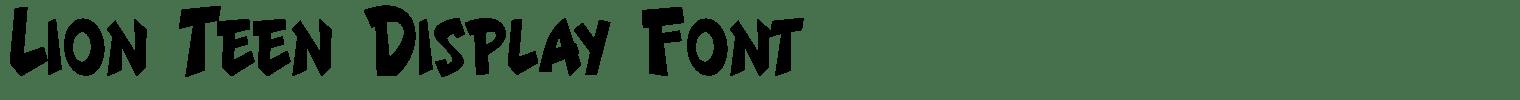 Lion Teen Display Font